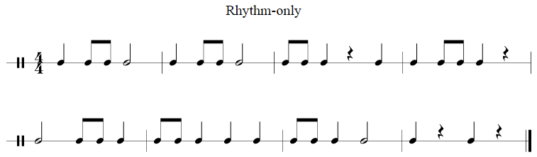 rhythm only example music