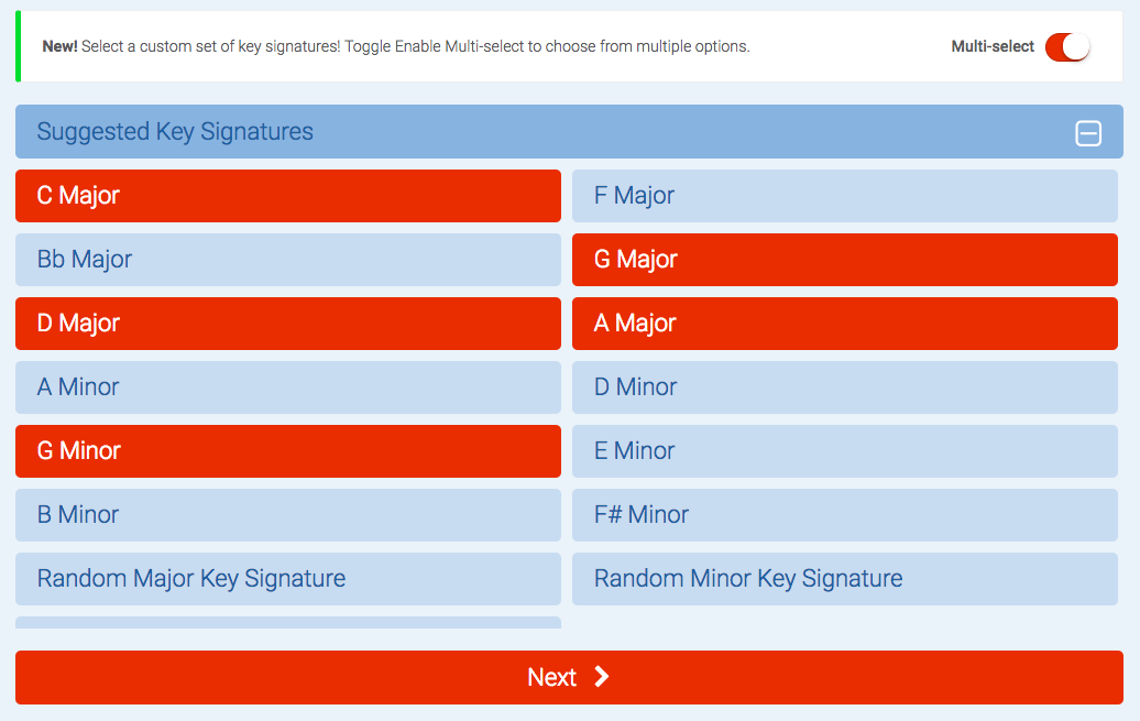 key signature picker