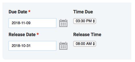 release date picker