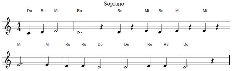 example containing solfege