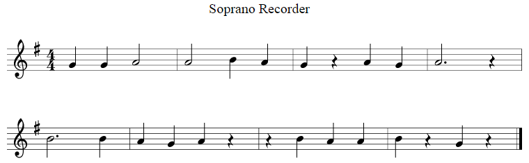 example music for recorder